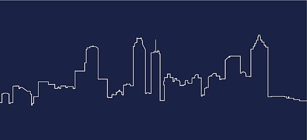 Best Atlanta Skyline Illustrations, Royalty.