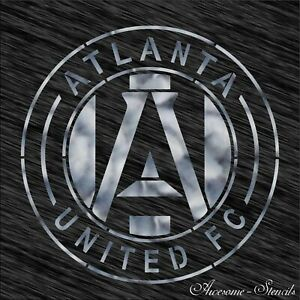 Details about Stencil Atlanta United FC logo Football Reusable Pattern Wall  Art Sport.