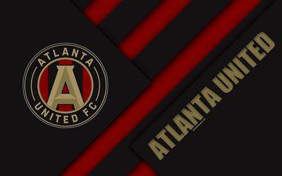 Download wallpapers Atlanta United FC, material design, 4k.