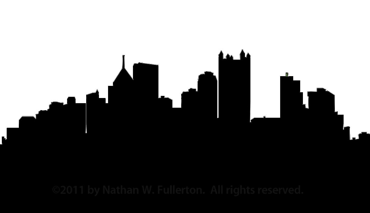 Pittsburgh Skyline Silhouette Clip art.