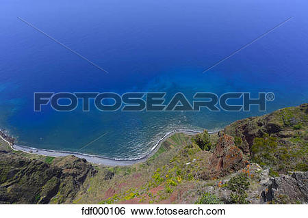 Stock Images of Portugal, Madeira, Atlantic coast fdf000106.