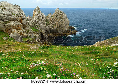 Stock Photo of Atlantic coast in Brittany k0937214.
