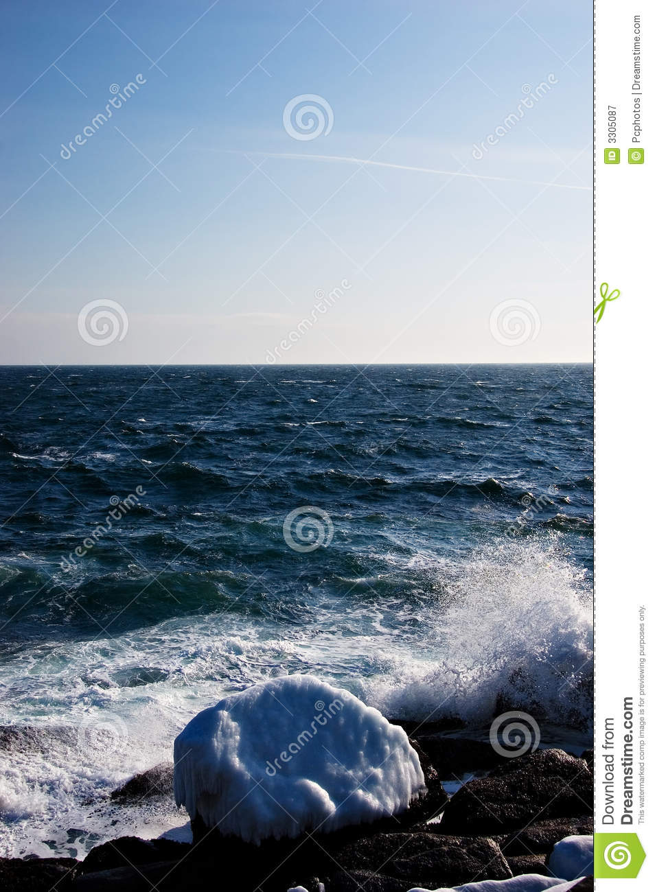 Icy Atlantic Coast Royalty Free Stock Photography Image 3305087.