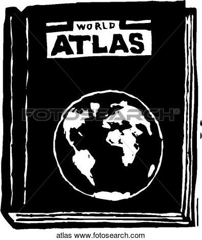 Atlas book clipart.