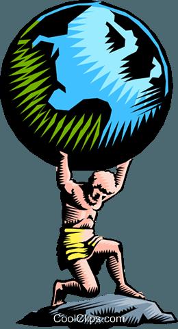 Atlas Royalty Free Vector Clip Art illustration.