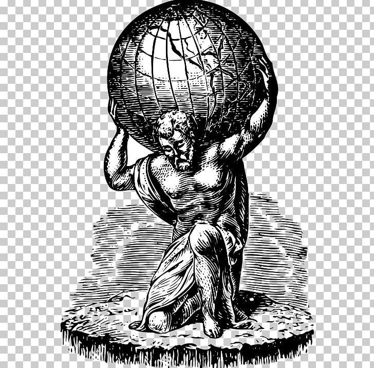Atlas Greek Mythology Labours Of Hercules Demigod PNG.