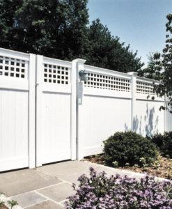 Vinyl Westbrook Privacy Fence.