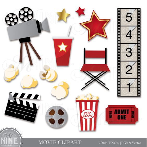 MOVIE Clip Art Movie Clipart Download, Movie Party Theater Clip.
