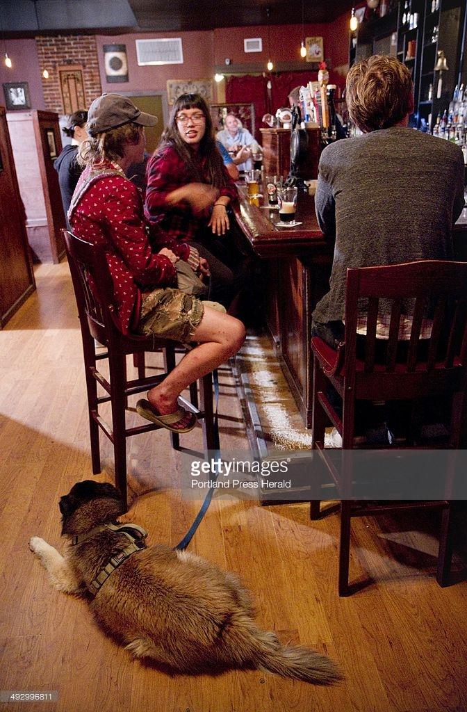 Connie Lemuir, dog Misty of Oklahoma and Scarlet Martinez of.