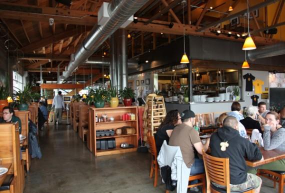 Hopworks Urban Brewery.