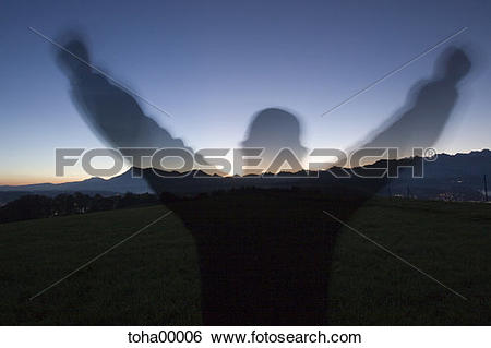 Stock Images of mountain panorama with sunrise, sunrise, time.