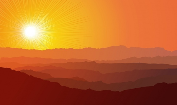 Morning sunrise vector free free vector download (324 Free vector.