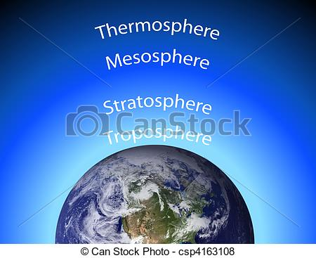 Pictures of Diagram of Earth\'s Atmosphere csp4163108.