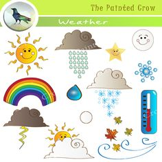 Clipart of weather conditions.
