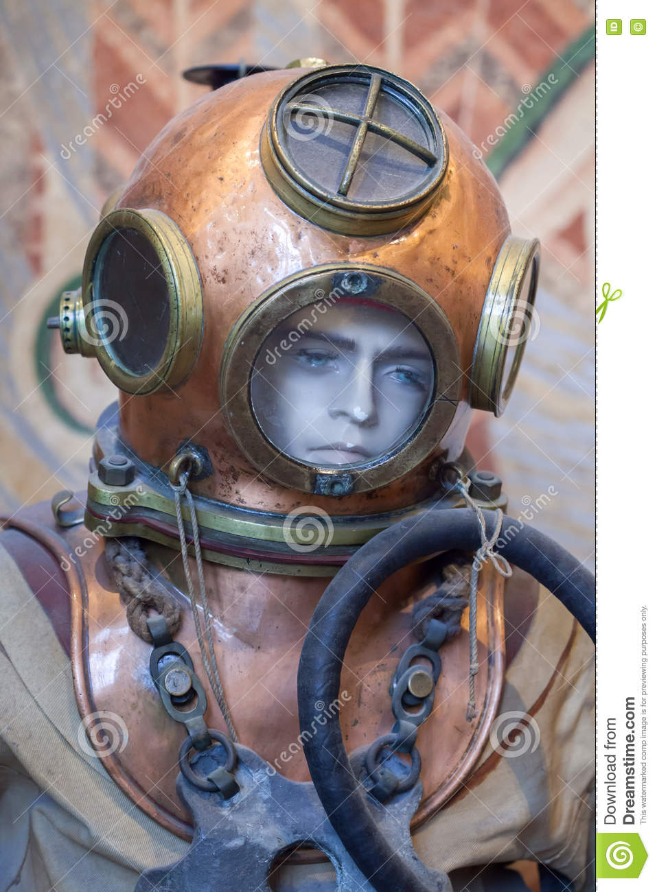 Old Atmospheric Diving Suit Editorial Photo.