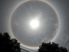 Also called a nimbus, icebow or Gloriole, a halo is an optical.