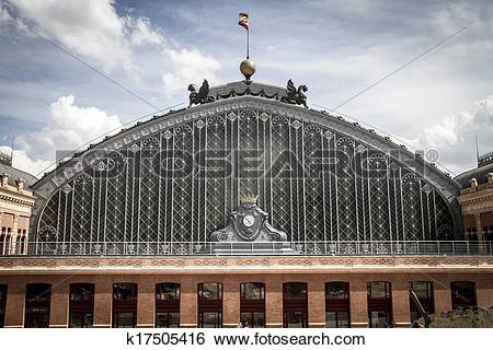 Stock Images of Atocha train station, Image of the city of Madrid.