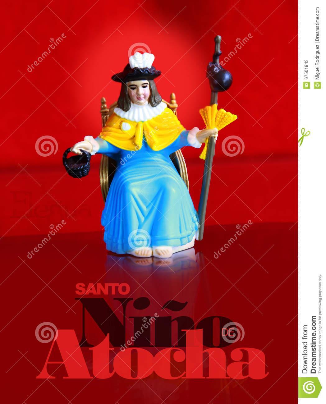 Holy Infant Of Atocha Stock Photo.