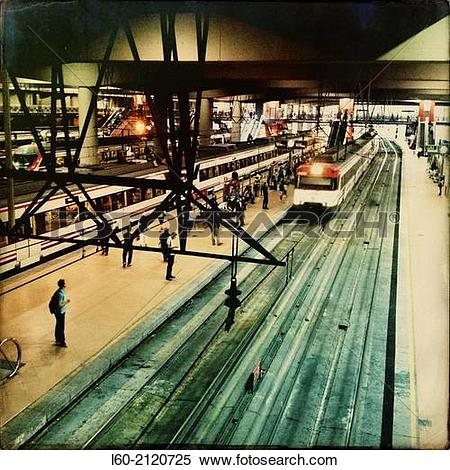 Stock Image of Atocha RENFE, Madrid, Spain. l60.