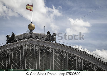 Stock Photography of Atocha train station, Image of the city of.