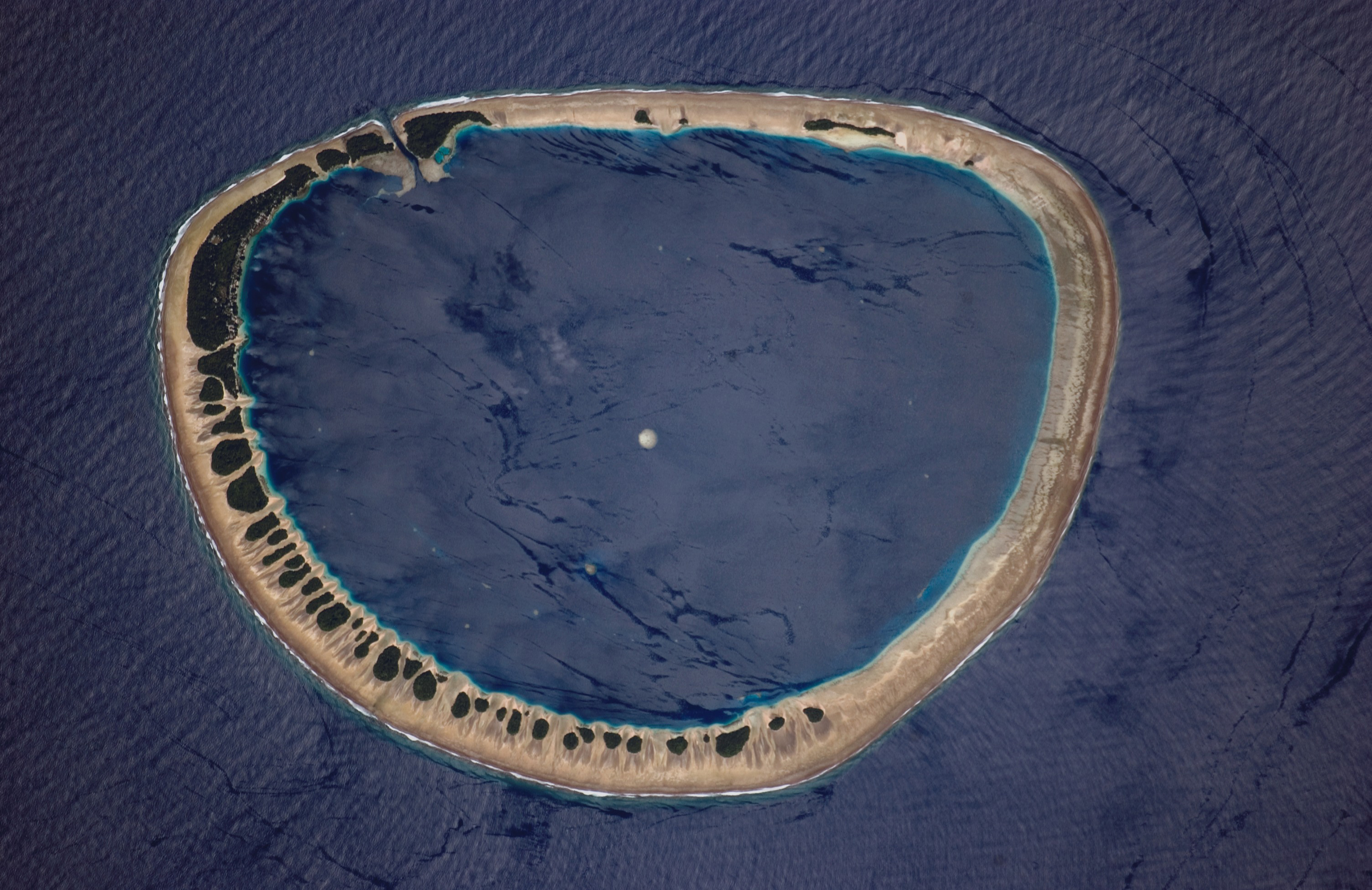Photograph of Nukuoro Atoll, Federated States of Micronesia.