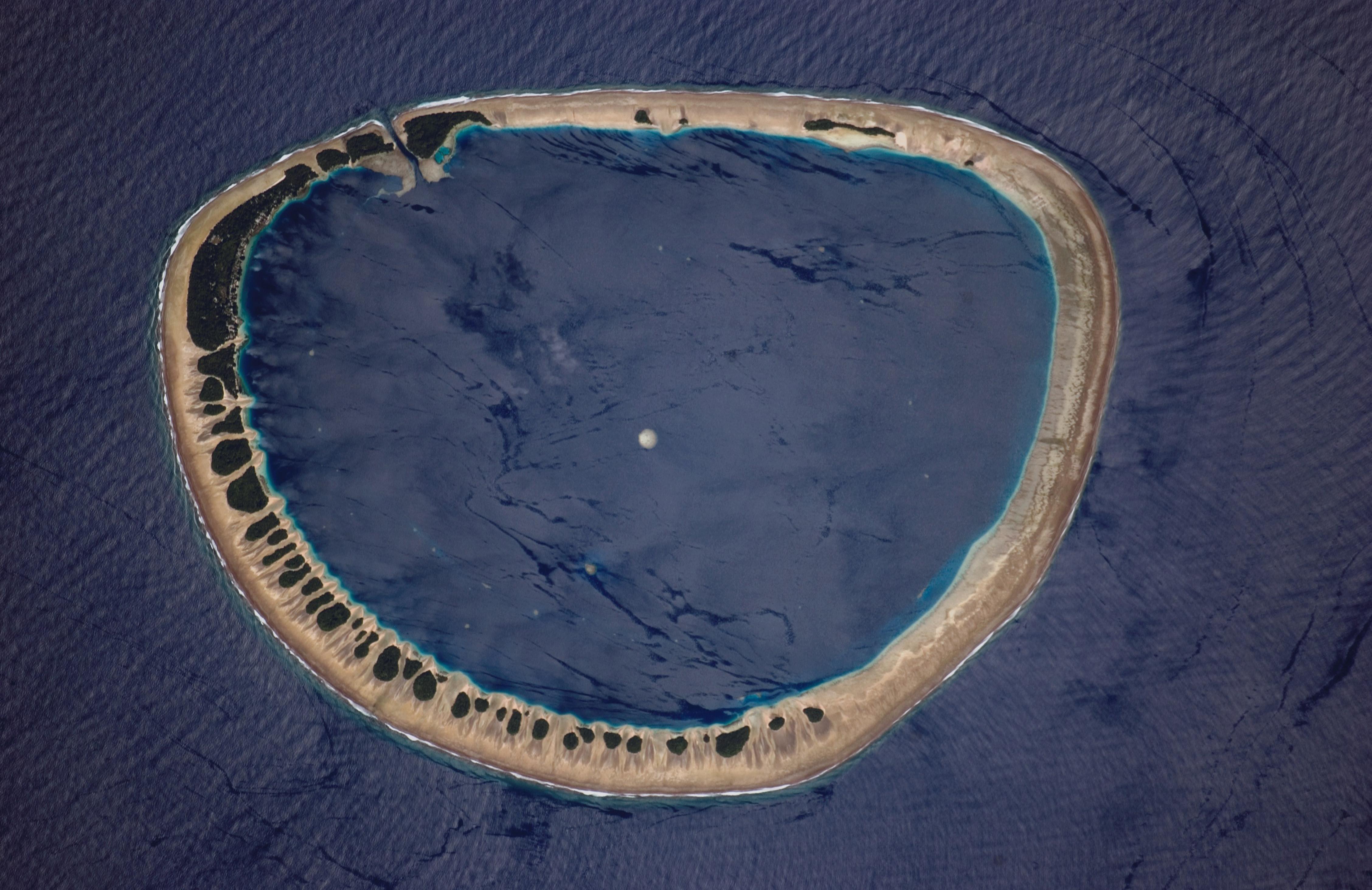 Photograph of Nukuoro Atoll, Federated States of Micronesia.