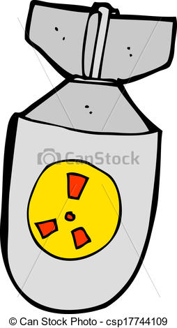 Vector Clipart of cartoon atom bomb csp17744109.