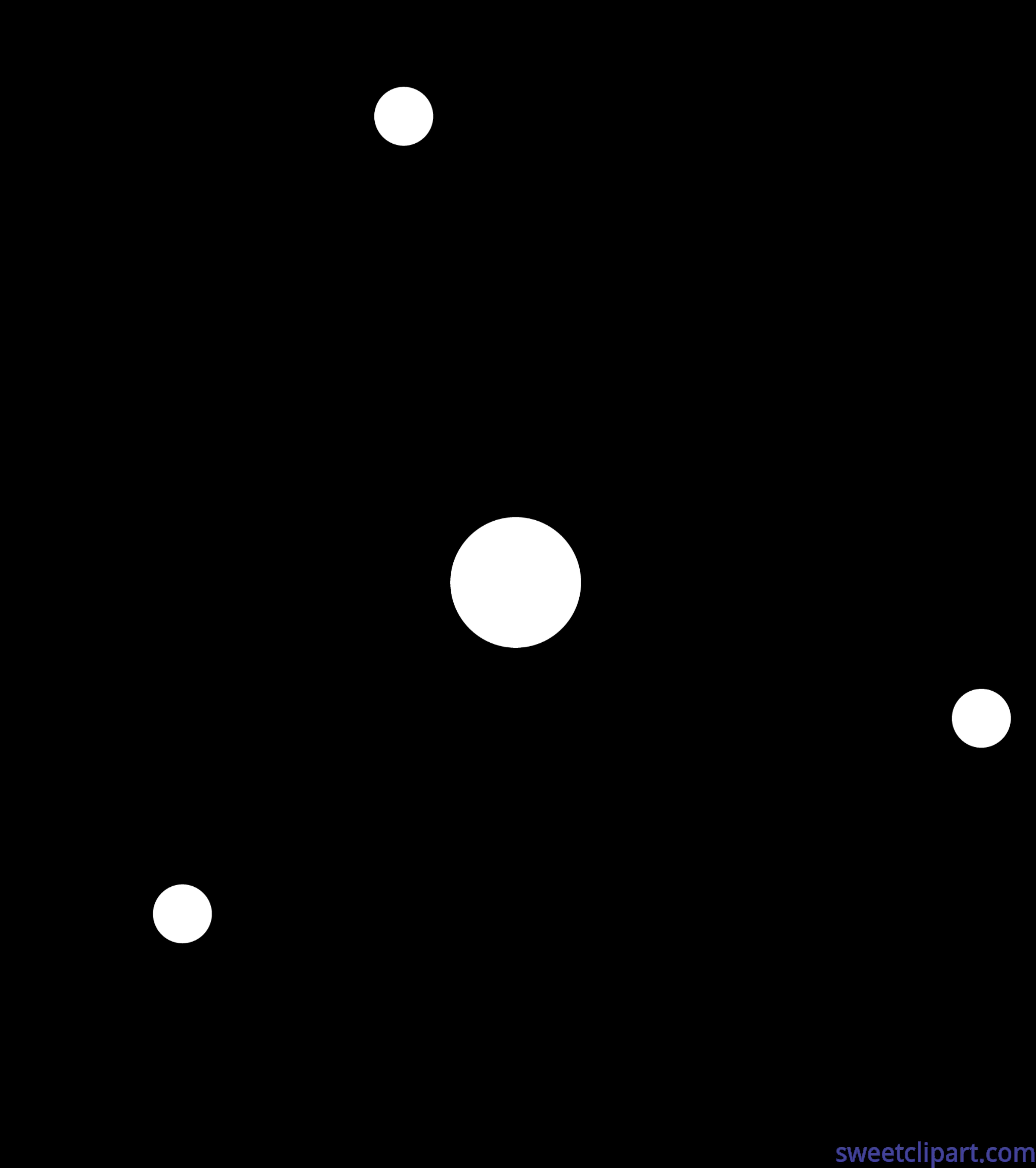 Atom Lineart Clip Art.