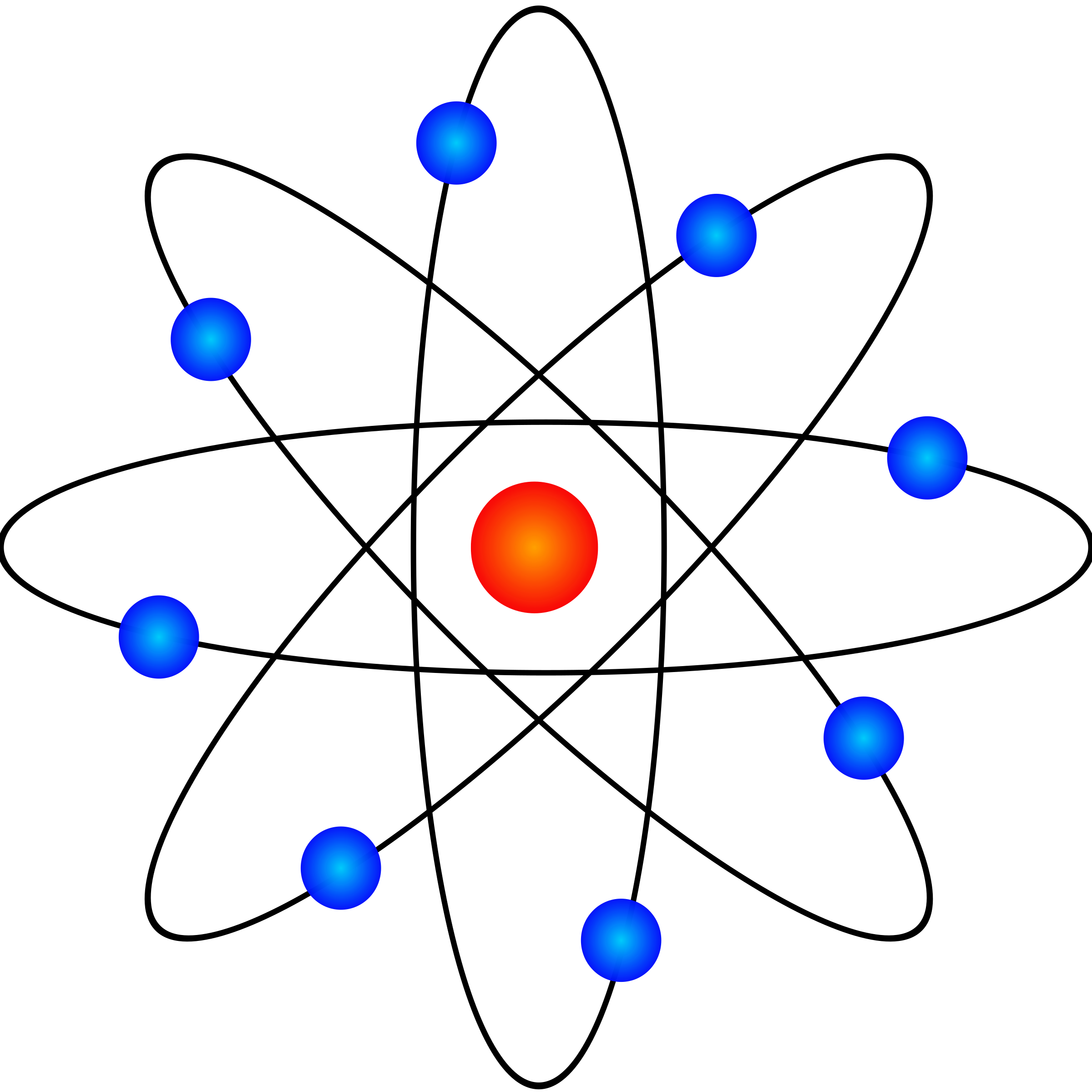 Atom Model Vector Clipart.