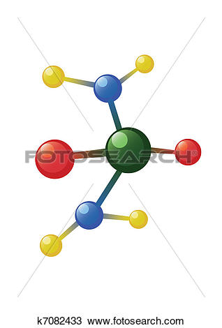 Clipart of Atom model k7082433.