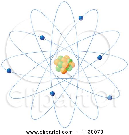 Cartoon Of An Atomic Planetary Model.