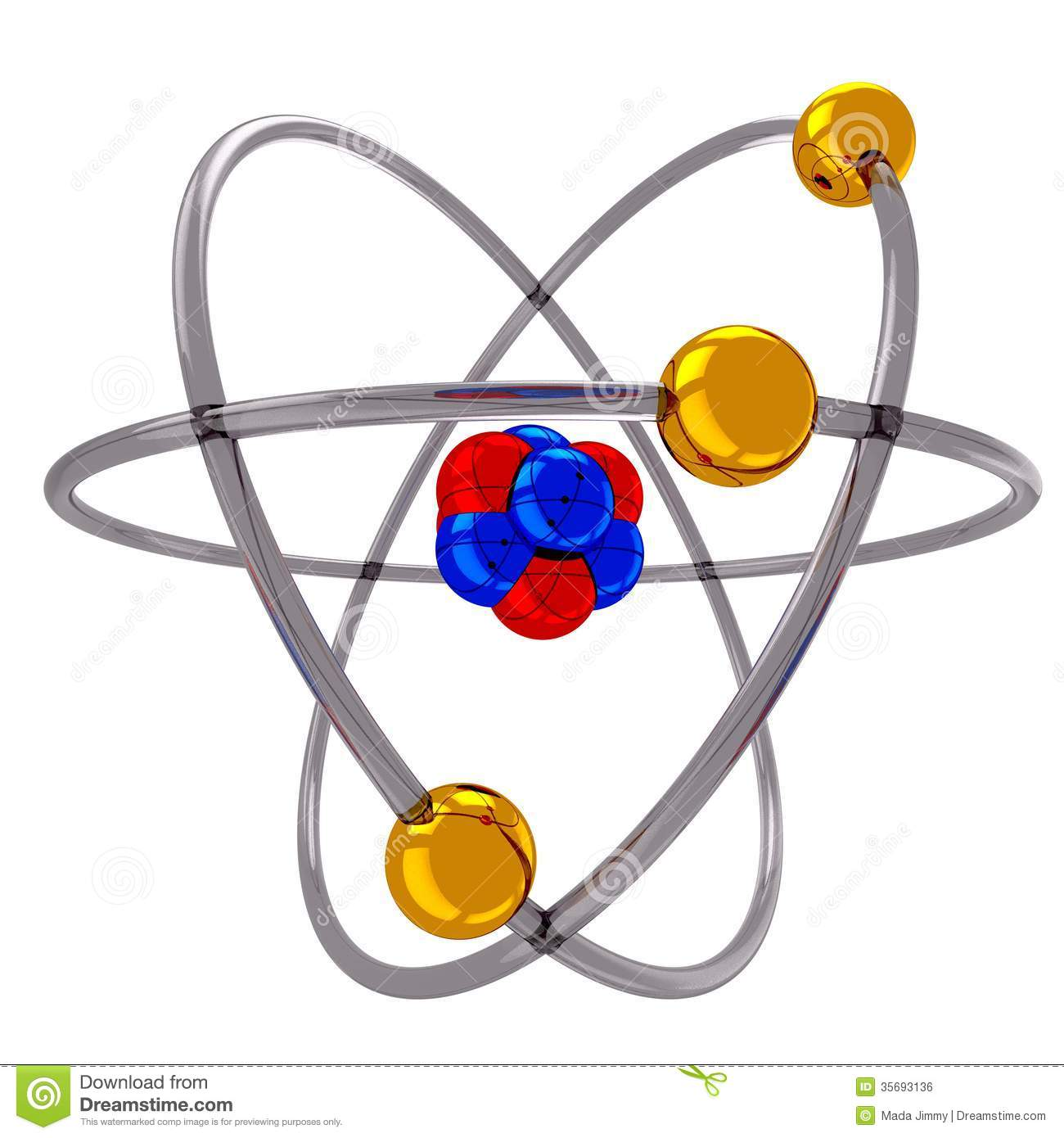 Atom Model Stock Photos.