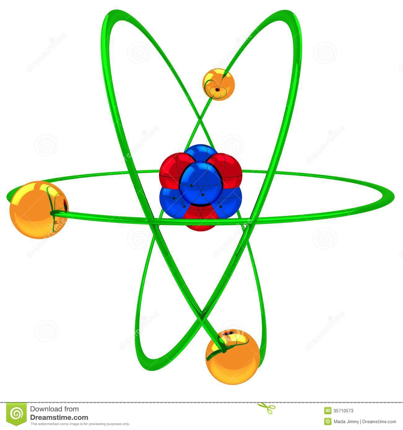 Atom structure clipart.