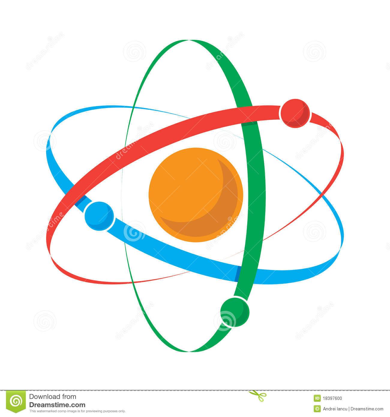 Atom Icon Stock Photo.