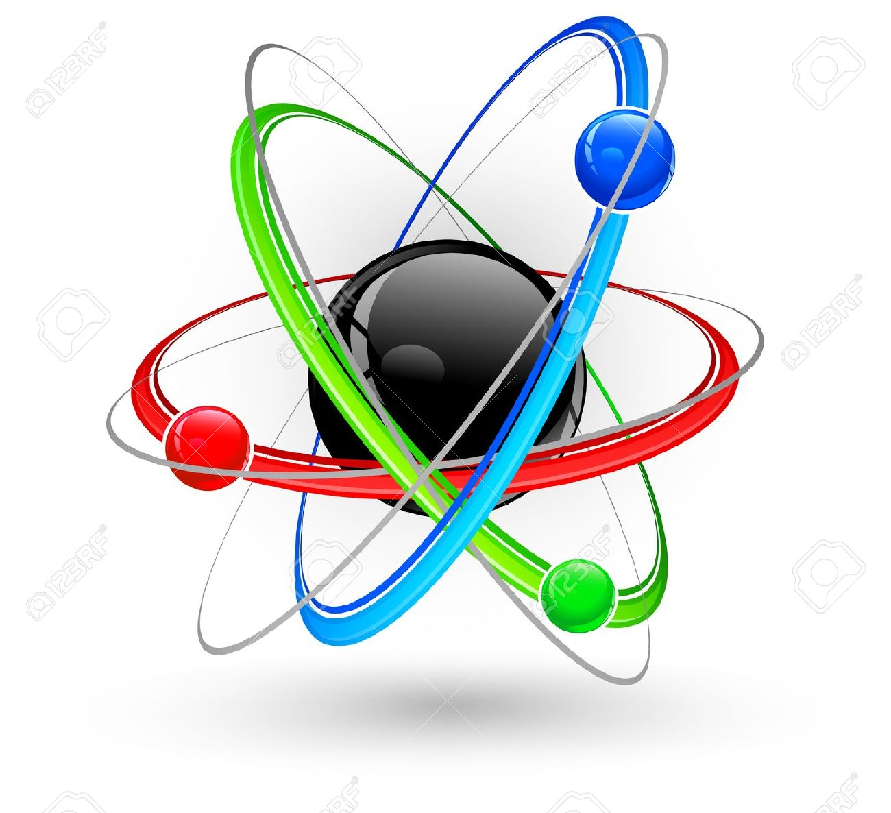 Atom color clipart.