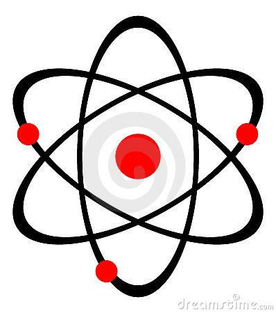 Atom Nucleus Stock Photo.