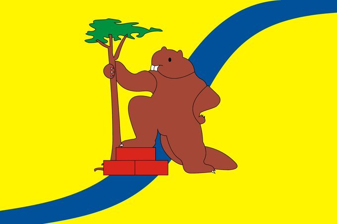 Weird and magnificent regional Russian flags featuring.