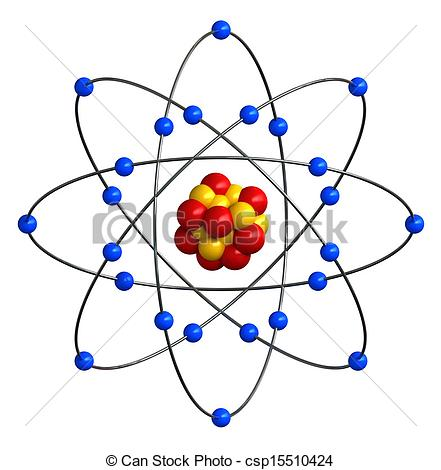 Clip Art of Atomic structure.