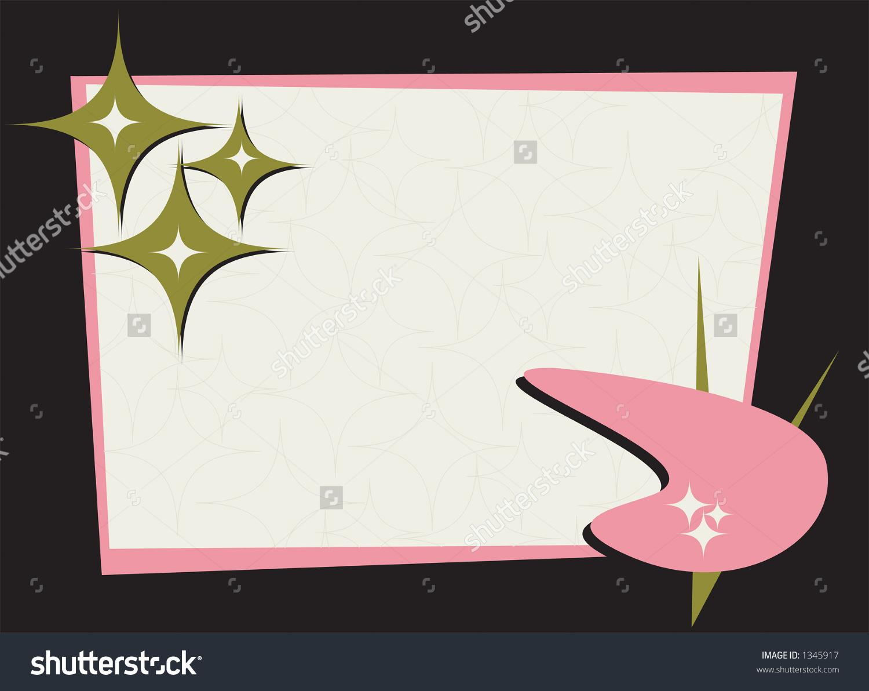 Retrostylin Frame Fully Editable Vector Illustration Stock Vector.