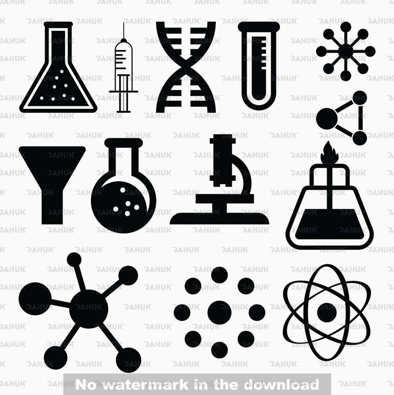 Science svg, Atomic svg, Atomic Clipart, Chemicstry svg, Test svg, Lab  silhouette Svg, Eps, Dxf, Png, digital art, clipart.