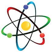 Atomic symbol clip art.