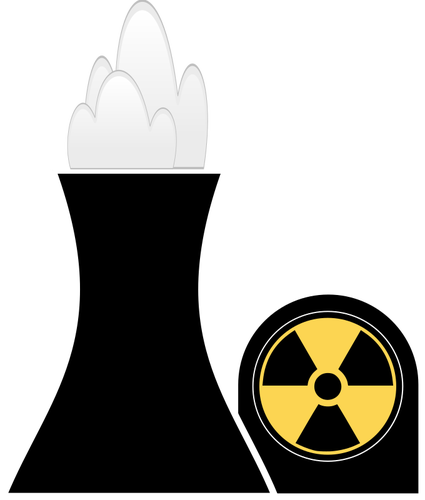 Atomic Energy plant symbol vector clip art.