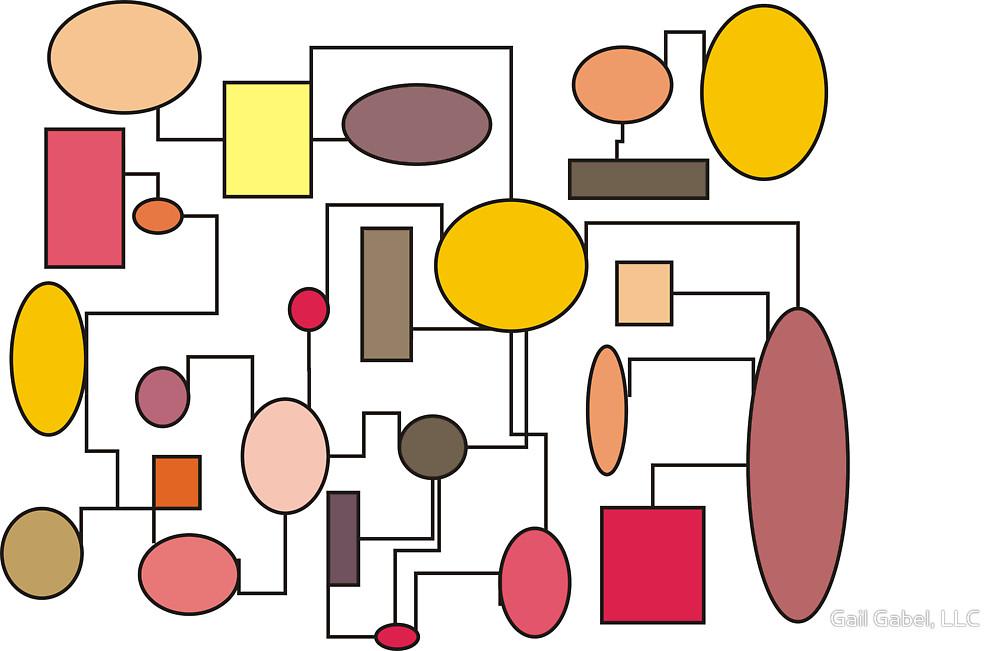 """Atomic Era Art Style """"Bubbles"""""""" by Gail Gabel, LLC."""