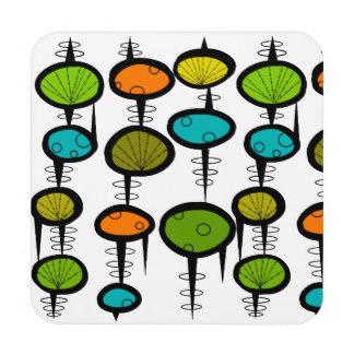 Atomic Era Design Drink & Beverage Coasters.