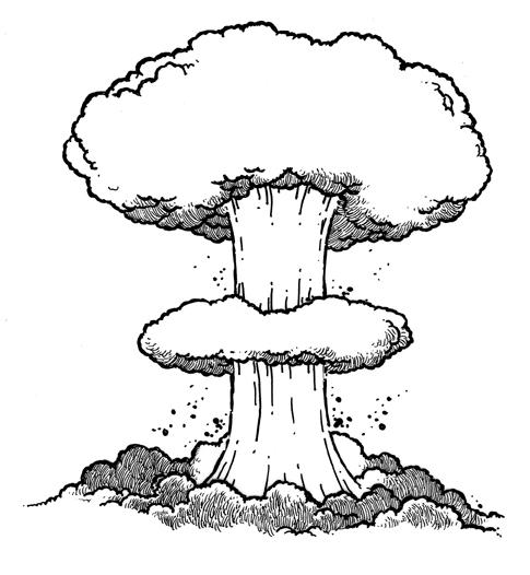 Retro Bomb Clipart.