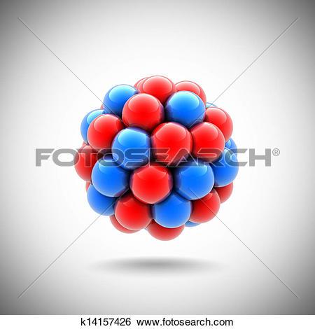 Stock Illustration of atomic nucleus k14157426.