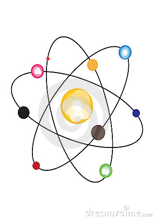 Atom Nucleus Illustration Stock Illustration.