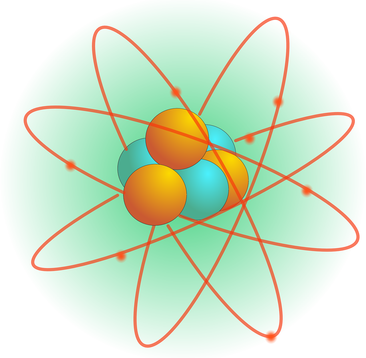 Atomic nucleus clipart #10