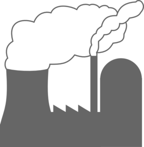 Nuclear power plant clipart.