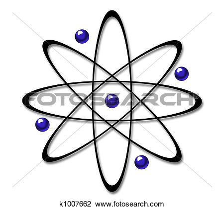 Clip Art of Atom Symbol k1007662.
